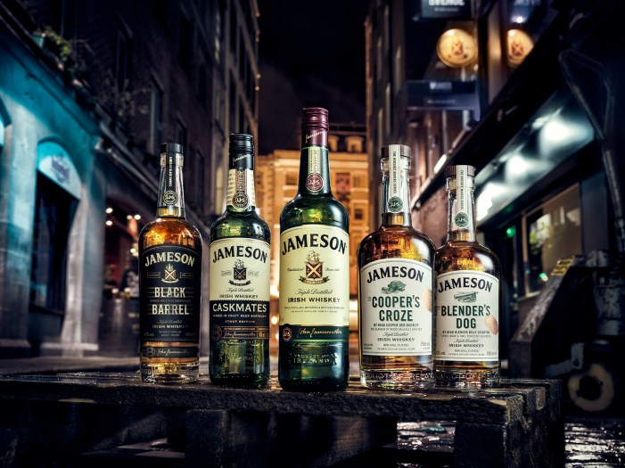 Why are sales of Jameson up by 3%?