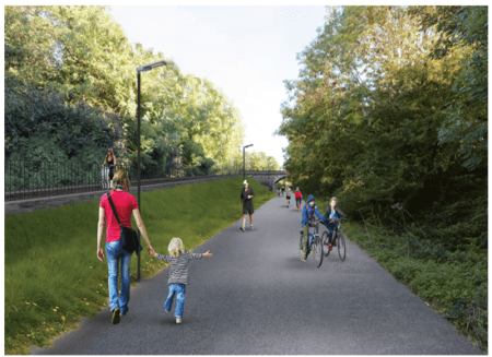 Improvements next week on Passage West Greenway (former Railway line turned Walkway)