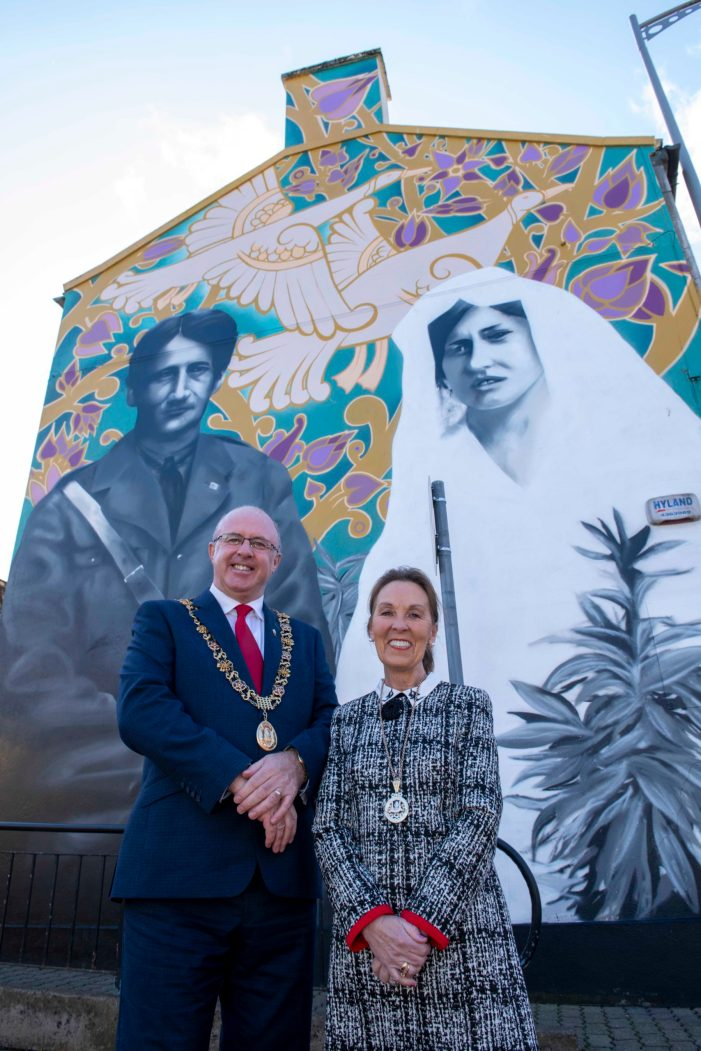 VIDEO: City Centre mural on side of building remembers Lord Mayor Terence MacSwiney