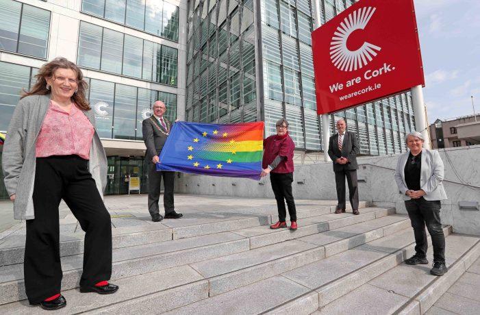Cork City receives LGBTI+ European Rainbow Flag