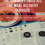 meal delivery planning