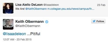 Screencap from Olbermann's twitter feed.