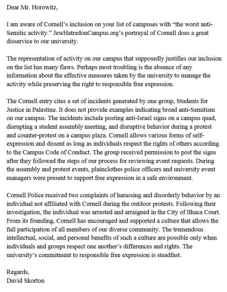 Horowitz Letter 2