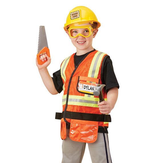 construction worker role play set corner station deli co op