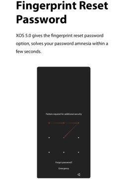 XOS 5.0 Cheetah fingerprint reset password
