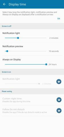 Samsung Galaxy Note 10 & Note 20 hole punch notification LED