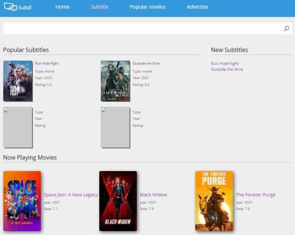 Best sites to download subtitles for movies.