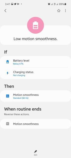 Samsung Galaxy A52 & A72 variable or adaptive screen refresh rate.