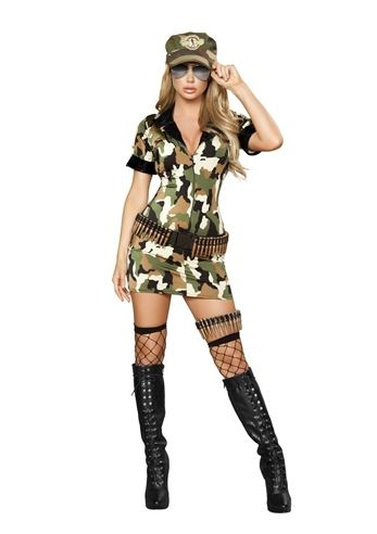 Adult Militia Babe Women Sexy Costume 5799 The Costume Land