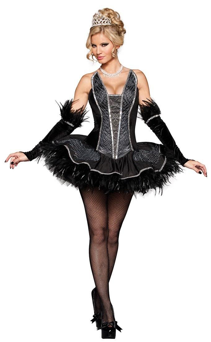 Ladies Seductive Swan Costume