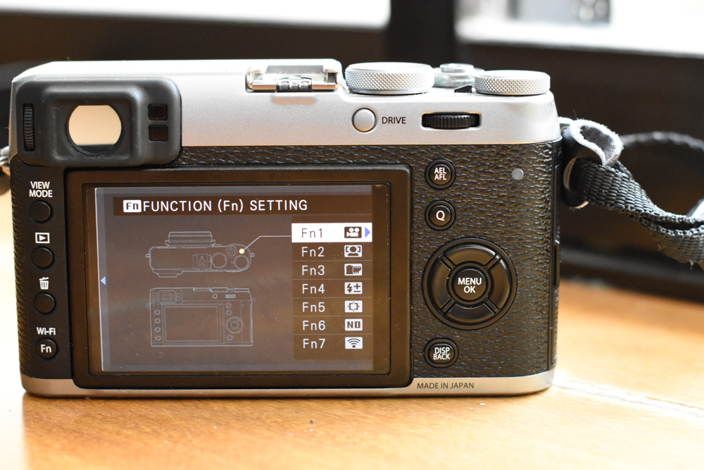 Fuji X100T Custom function buttons