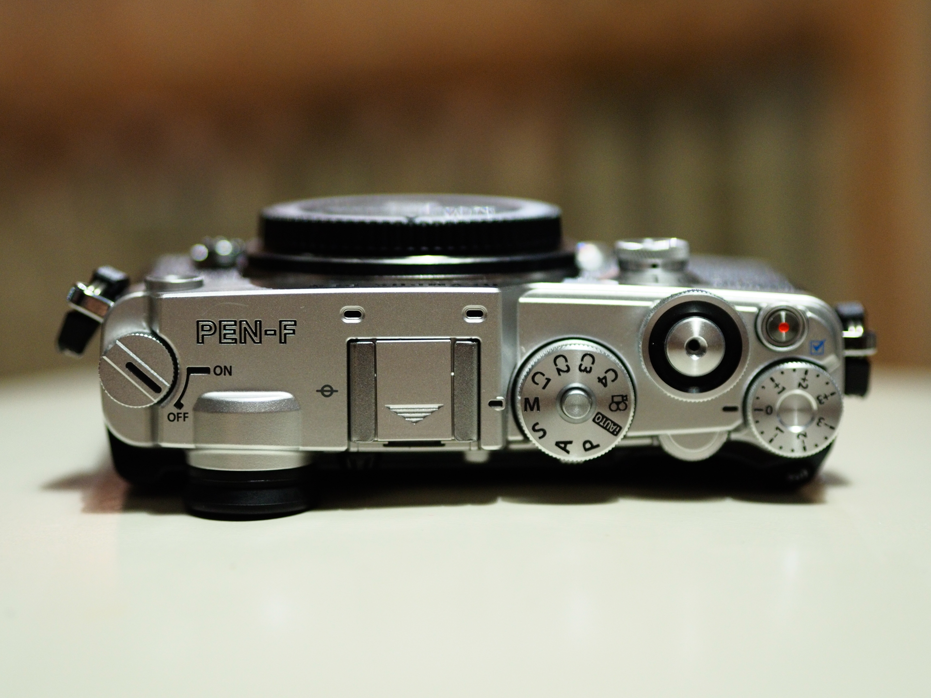 olympus pen f layout