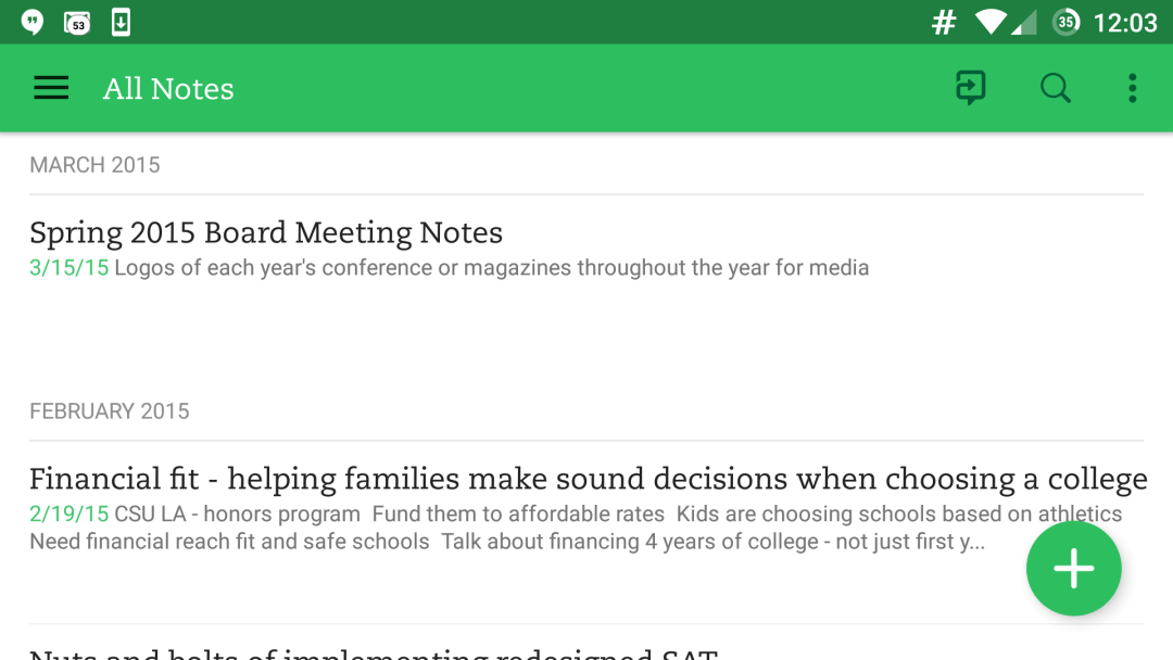 Take easy notes, organize into digital notebooks and share with colleagues with Evernote