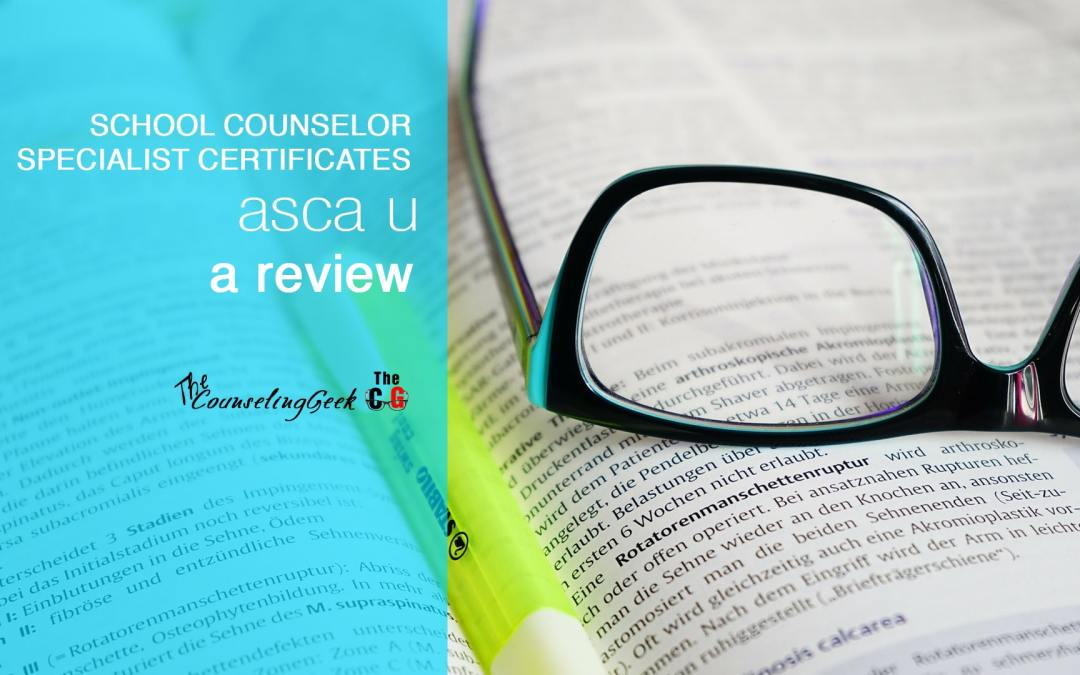 ASCA Specialist Certificate Programs: A Review