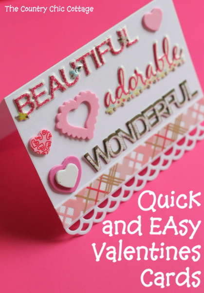 Quick And Easy Valentines Cards LIVE The Country Chic