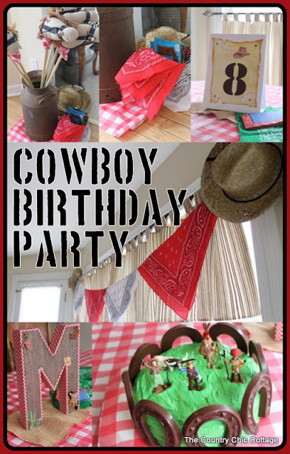 Cowboy Theme Birthday Party Decorations The Country Chic Cottage