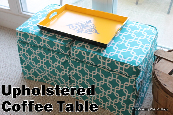 diy upholstered coffee table the
