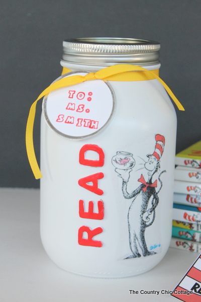 Dr Seuss Gift In A Jar For Teachers The Country Chic