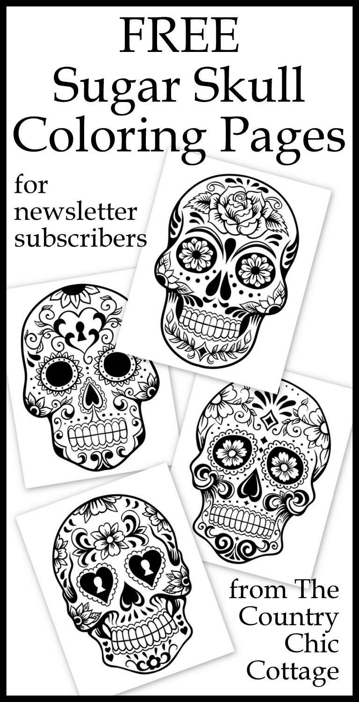 Free Sugar Skull Coloring Kids