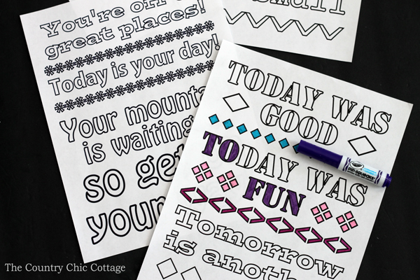 Free Dr  Seuss Coloring Pages   The Country Chic Cottage Print these free Dr  Seuss coloring pages  Quotes from Seuss himself on fun  coloring