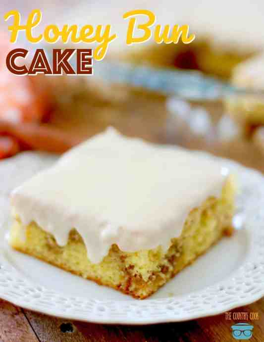 Honey Bun Cake recipe from The Country Cook