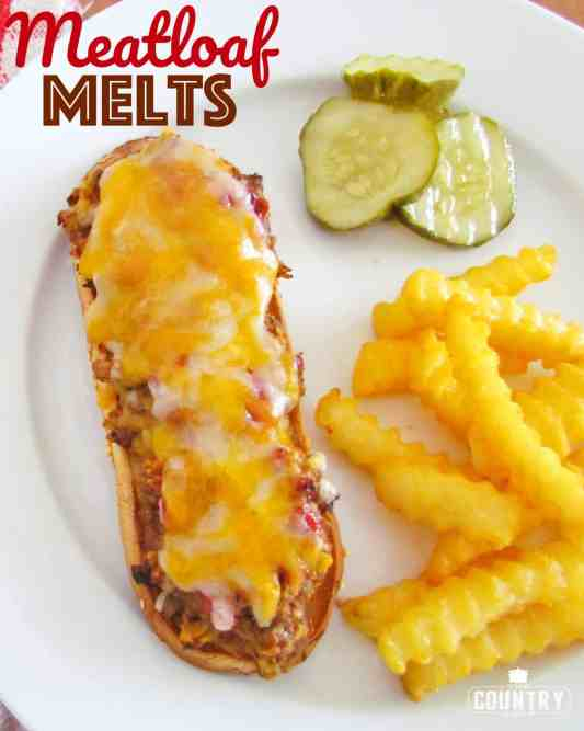 Meatloaf Melts recipe from The Country Cook #groundbeef #easy #cheese #sandwich