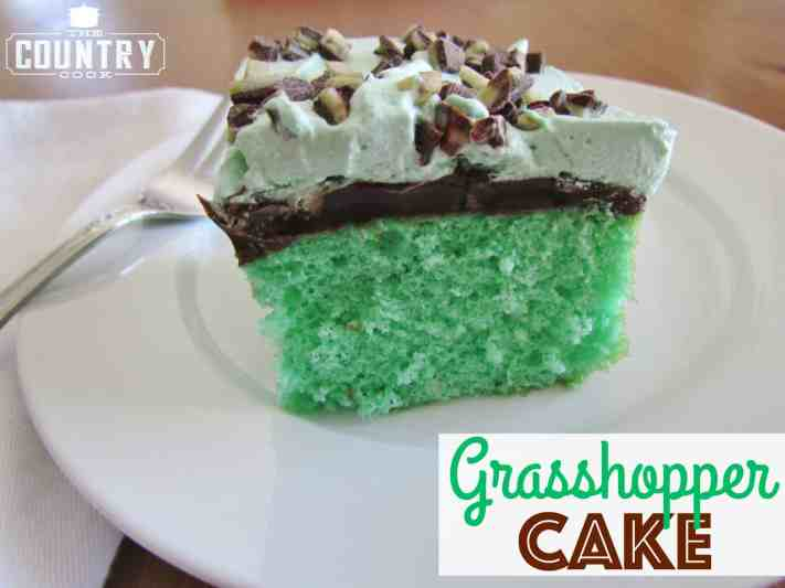 Grasshopper Mint Chocolate Cake recipe from The Country Cook