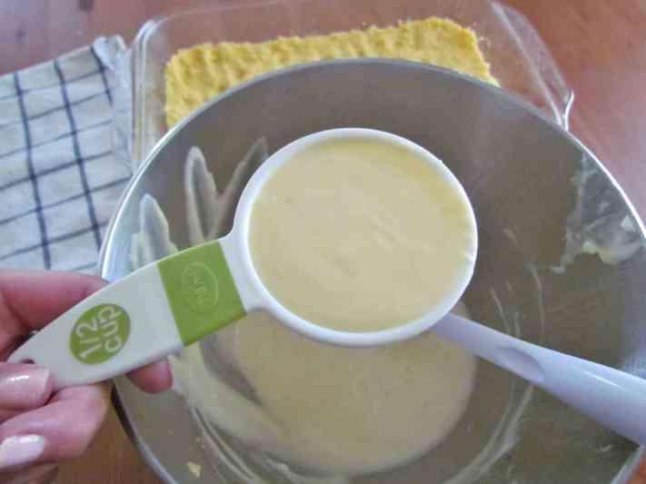cream cheese lemon mixture