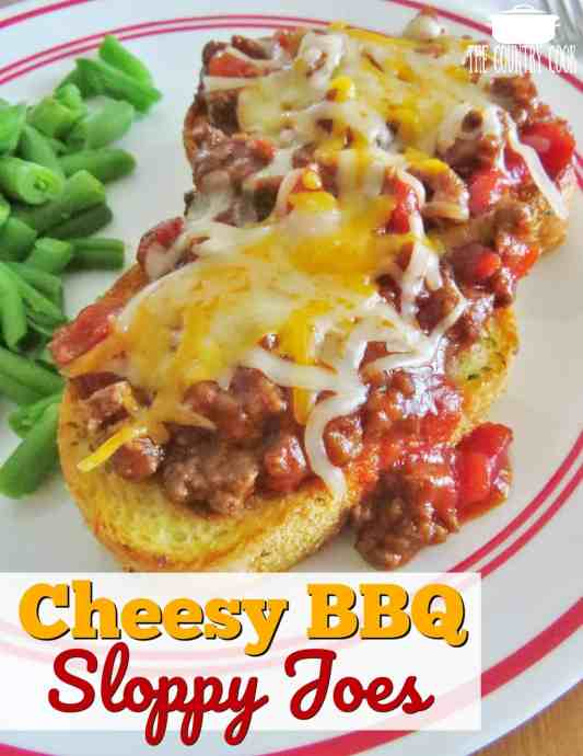 Cheesy Barbecue Sloppy Joes recipe from The Country Cook
