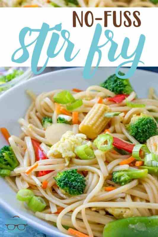 Easy No-Fuss Stir Fry recipe from The Country Cook #vegetarian #dinner