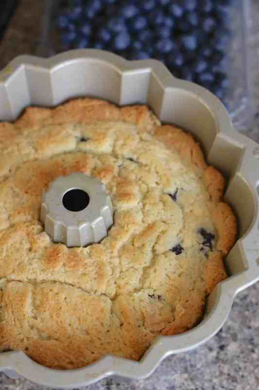fully baked blueberry muffin cake