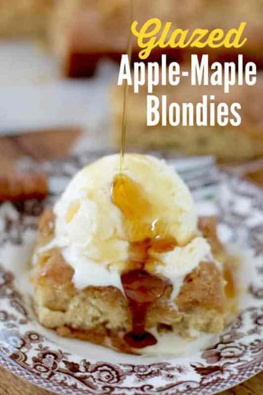 Glazed Apple Maple Blondies