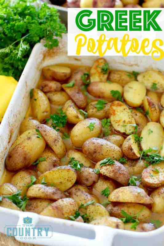 Greek Potatoes recipe from The Country Cook