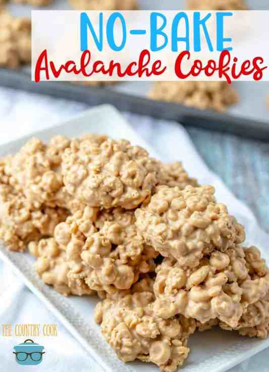 No Bake Avalanche Cookies recipe from The Country Cook