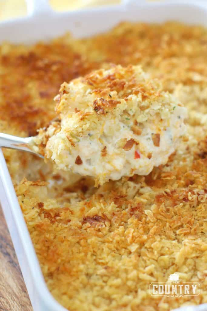 """Funeral Potatoes are creamy, cheesy potatoes with a crunchy, buttery topping. They are comfort food to the max that everyone loves!"" Funeral Potatoes Recipe 