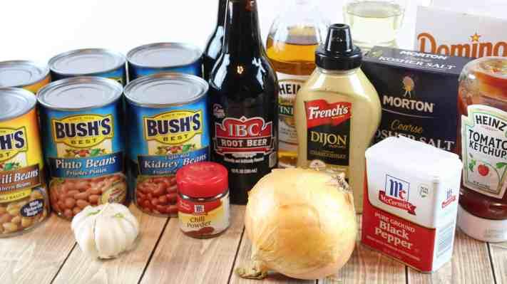 Root Beer Baked Beans, ingredients