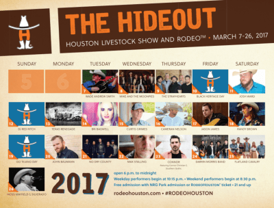 Houston Livestock Show And Rodeo Announces Highly Annticipated 2017 Rodeohouston Entertainer