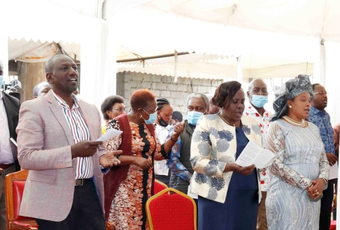 During a prayer service at the Kitengela Methodist Church and the ordination of Pastor Gabriel Riamet of the Free Pentecostal Baraka Church, Kitengela, Kajiado County, accompanied by 21 MPs led by Senator Mary Seneta. https://t.co/UbgZvuqk6l
