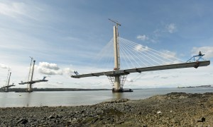 The Queensferry Crossing is still under construction