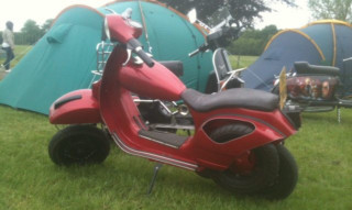The Vespa which has now been returned to him.