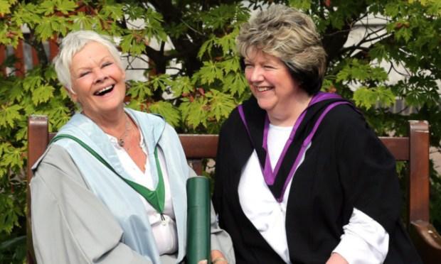 Dame Judi Dench with Professor June Andrews.