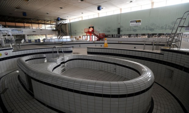 The Courier gets one last look around the soon-to-be demolished Olympia swimming pool.