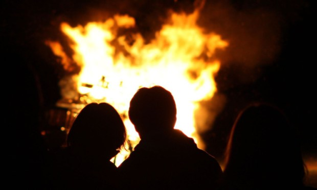 Authorities had asked people to stick to official bonfire night events.