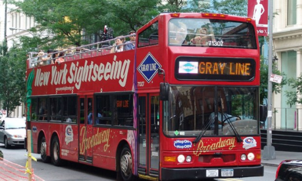 A new York sightseeing tour bus
