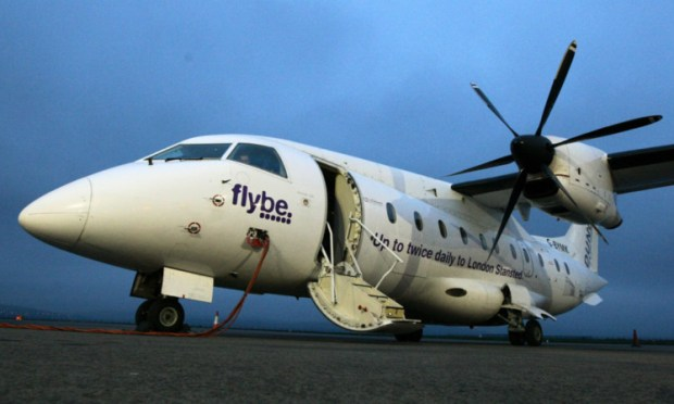 The new flight linking Dundee and Stansted.