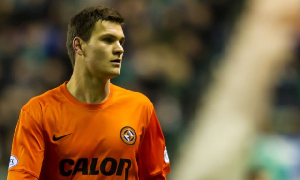 Curtis Good in action for Dundee United.