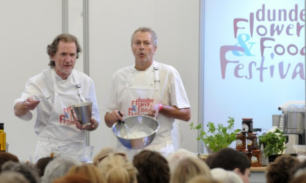 Chefs Paul Rankin and Nick Nairn proved an entertaining double act.
