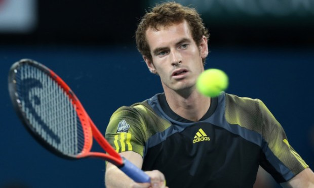 Andy Murray wobbled in the second set but still cruised to victory against John Millman in Brisbane.