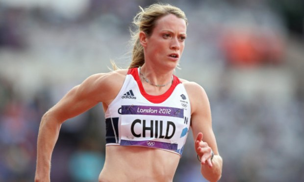 Eilidh Child competing at the London Olympics.