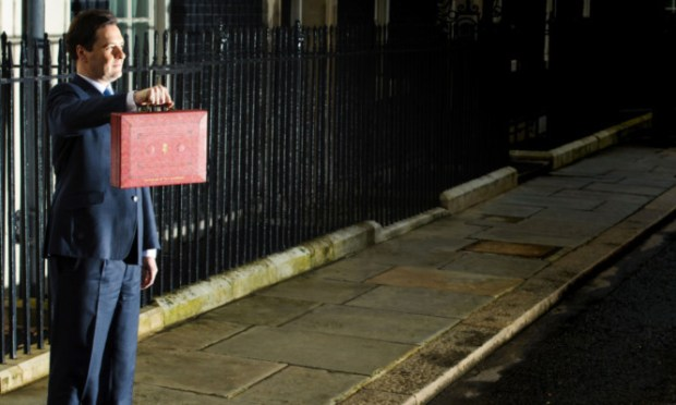 George Osborne faces the media in Downing Street before heading to Westminster to present his Budget.